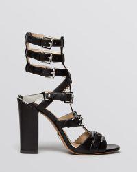 Michael Kors Paisley Leather Sandals - Lyst