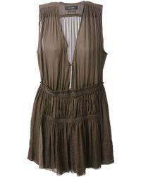Isabel Marant Brown Draped Dress - Lyst