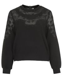 Topshop Embroidered Sweat - Lyst