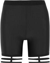 Chromat - Cutout Stretch-jersey Shorts - Lyst