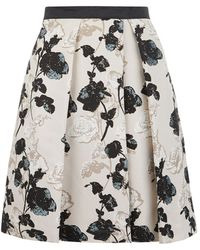 Weekend by Maxmara Nettare Floral Pleated Skirt - Lyst