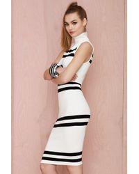 Nasty Gal White Turtleneck Dress - Lyst