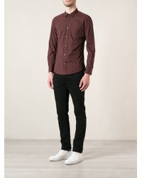 Diesel Red Checked Shirt - Lyst