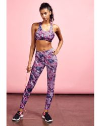 Missguided Active Printed Full Length Workout Leggings Pink - Lyst