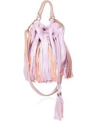 Sara Battaglia Light Pink and Beige Medium Jasmine Bag - Lyst