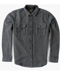 Obey L/S Davin Shirt black - Lyst