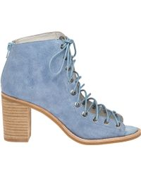 Jeffrey Campbell | Cors Light Blue Suede Lace-up Bootie | Lyst
