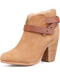 Rag & Bone Harrow Nubuck Ankle Boot Camel - Lyst