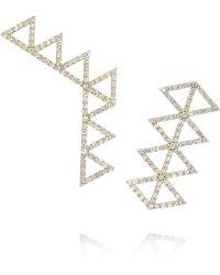 Lito - Izel 14karat Gold Diamond Earrings - Lyst