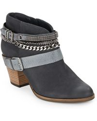 Dolce Vita Yazmin Leather Ankle Boots - Lyst