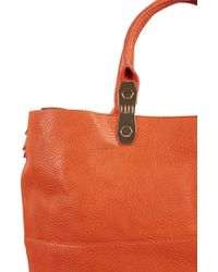 Topshop Faux Suede Back Tote - Lyst