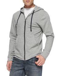 James Perse Cotton-knit Zip Hoodie - Lyst