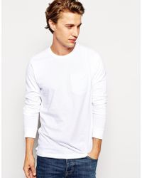 French connection Long Sleeve Tshirt with Pocket - Lyst