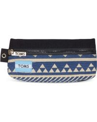 TOMS - Indigo Ikat Traveller Pencil Case - Lyst