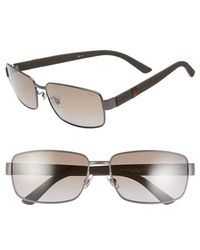 Gucci Men'S 61Mm Special Fit Polarized Sunglasses - Matte Grey - Lyst