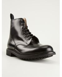 Church's Black Laceup Boots - Lyst