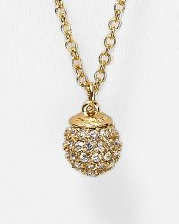 "T Tahari - Crystal Pavé Ball Necklace, 32"" - Lyst"
