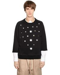 Andrea Pompilio | Cotton Sweatshirt With Eyelets | Lyst