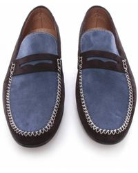 Stemar Suede Penny Loafers - Lyst