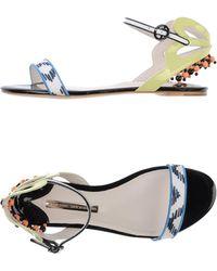 Sophia Webster White Sandals - Lyst