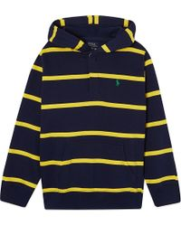 Ralph Lauren Striped Hooded Top S-xl - Lyst