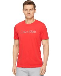 Calvin Klein Ck Performance By Space-Dye Transfer Crew-Neck T-Shirt - Lyst