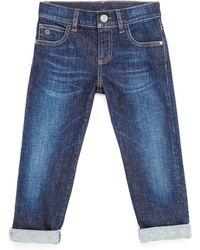 Gucci Blue Stretch-denim Jeans - Lyst