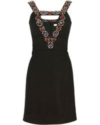 Matthew Williamson Tailored Mini Dress With Embellishment - Lyst