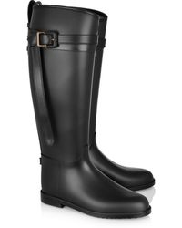 Burberry Leathertrimmed Wellington Boots - Lyst