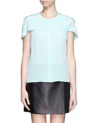 Sandro Cyrielle Silk Shirt - Lyst