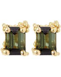 Ruth Tomlinson - Gold Tourmaline Stud Earrings - Lyst