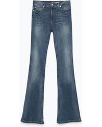 Zara Flared Jeans - Lyst
