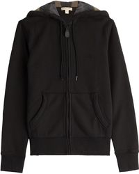 Burberry Brit - Zipped Cotton Hoody - Black - Lyst