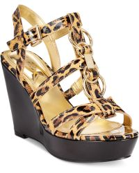 Marc Fisher Genre Platform Wedge Sandals - Lyst