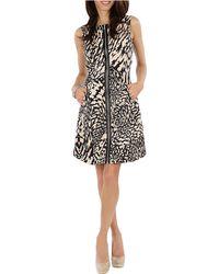 Debbie Shuchat - Animal Print Zip A-line Dress - Lyst