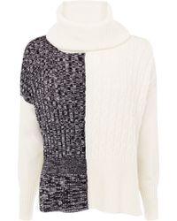 Karen Millen   Tweedy Graphic Knit Jumper   Lyst