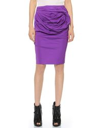 Vera Wang Collection - Pencil Skirt With Obi Detail - Fuchsia - Lyst
