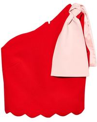 OSMAN Athena Bi-Colour Top red - Lyst