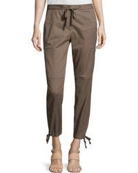 Halston Heritage Straight Slim Cargo Pants - Lyst