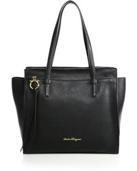 Ferragamo | Amy Medium Soft Leather Tote | Lyst