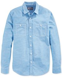 American Rag Solid Utility Chambray Shirt - Lyst
