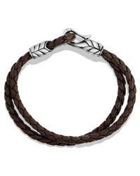 David Yurman Chevron Two-row Bracelet - Lyst