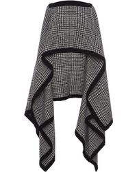 Veronique Branquinho - Wool Asymmetrical Poncho - Lyst