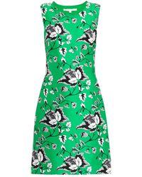 Diane von Furstenberg Sofia Wool-Silk Dress green - Lyst