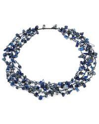 Aeravida - Sea Blue Lapis Five-layer Beauty Cotton Rope Necklace - Lyst