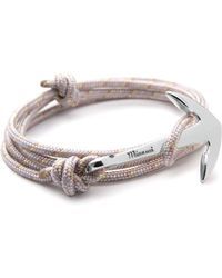Miansai | Silver Anchor And Shadow Rope Wrap Bracelet | Lyst