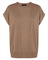Jaeger Silk Blend Layered Sweater - Lyst