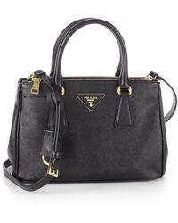 Prada Saffiano Lux Small Double Zip Tote Bag - Lyst