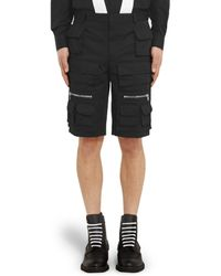 Givenchy Pocketed Cotton Bermuda Shorts - Lyst