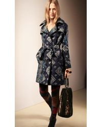 Burberry Quilted Trench Coat - Lyst